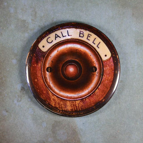 Vintage Hotel Desk Call Bell Fridge Magnet Steampunk