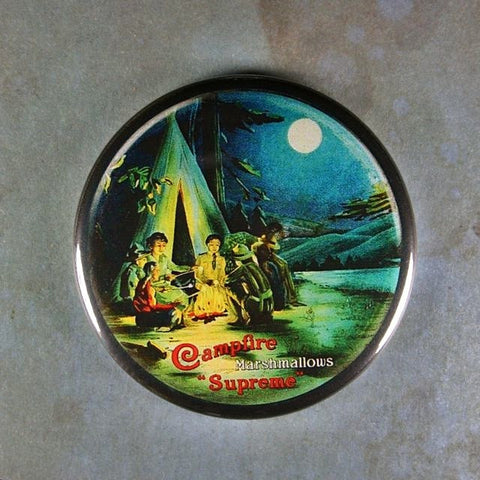 Old Advertising Sign Fridge Magnet  Supreme Campfire Marshmallows