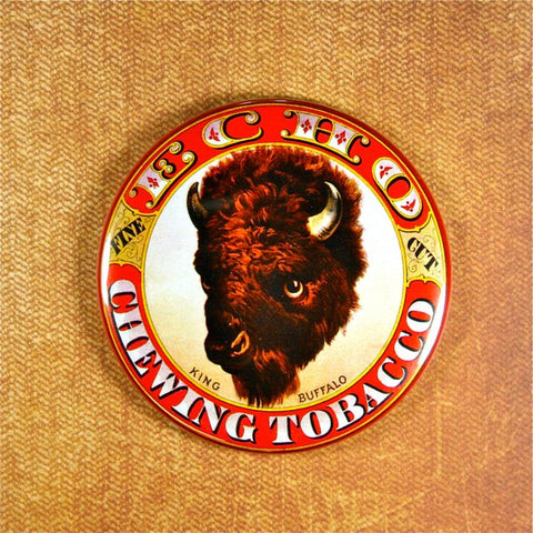 Vintage Chewing Tobacco No.1 Fridge Magnet Buffalo Wild West