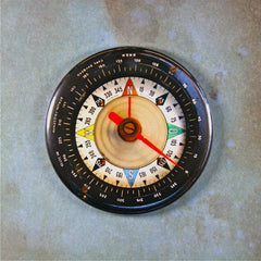Antique Military Compass Gauge Fridge Magnet WW2  Luftwaffe