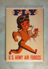 WW2 Recruiting Poster Fridge Magnet US Army Air Forces Pilot