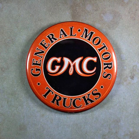 Vintage Enamel Sign Fridge Magnet  GMC Trucks  Sales Service