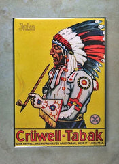 fridge magnet Indian Chief Tobacco Cruewell Pipe Inka