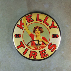 "Fridge Magnet 2 1/4"" round Kelly Tires Magnet library"