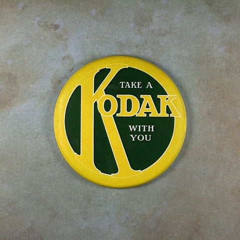 Vintage Advertising Sign Fridge Magnet Kodak Camera 1910