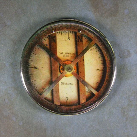 Vintage Compass Fridge Magnet  Industrial Steampunk