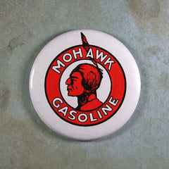 Vintage Tin Sign Fridge Magnet  Mohawk Indian  Gasoline