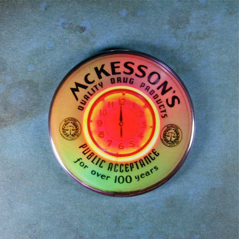 Vintage Neon Clock Fridge Magnet McKesson's Quality Drug Products