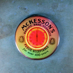 Vintage Neon Clock Fridge Magnet McKesson's Drugs Pharmacy