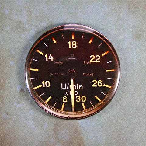 WW2 Airplane Gauge Fridge Magnet ,Luftwaffe, Me 109