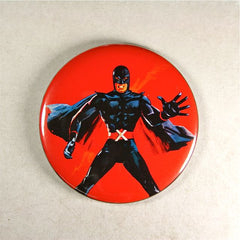 Mister X Fridge Magnet  Mod 1960's  Action Superhero Avenger X