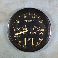 Vintage WW2 Airplane Gauge Fridge Magnet P 51 Oil Pressure