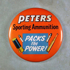 Fridge Magnet Vintage Advertising sign Peter's Sporting Ammunition