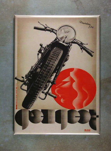 Vintage Motorcycle  Advertisement Fridge Magnet Peugeot 1930