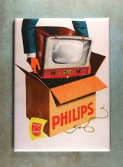 Refrigerator Magnet philips B W TV The Magnet Library