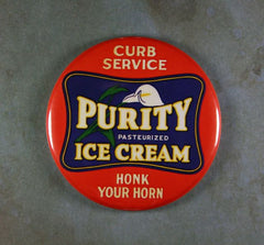 "Fridge Magnet 2 1/4"" Vintage Purity Ice Cream Curb Service"