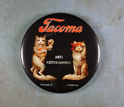 Vintage Beer Sign Fridge Magnet Katzenjammer Tacoma Beer