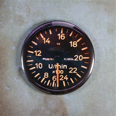 "Vintage Aircraft RPM Gauge, 2 1/4"" Magnet, WW2,Messerschmitt, Luftwaffe"