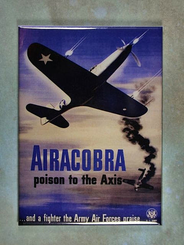 WW2  Aircraft Ad Poster Fridge Magnet  Bell P 39 Airacobra