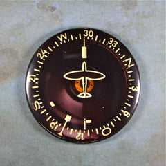 Vintage Aircraft Compass Gauge Fridge Magnet Navigation WW2