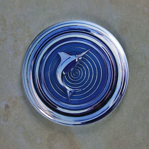 Vintage AMC Marlin Chrome Emblem Fridge Magnet