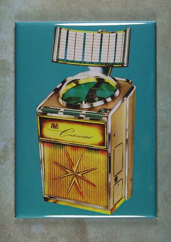 Vintage Jukebox Advertisement Fridge Magnet AMI Continental 1