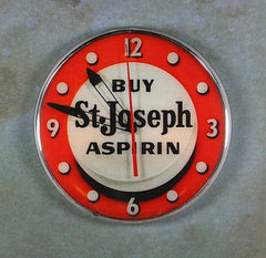 Vintage Advertising Clock Fridge Magnet St. Joseph Aspirin Magnet Library