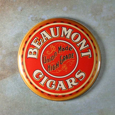 Vintage Advertising Tin Sign Fridge Magnet Beaumont Cigars