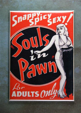 Vintage Movie Poster Souls in Pawn Fridge Magnet Pin-up Girl