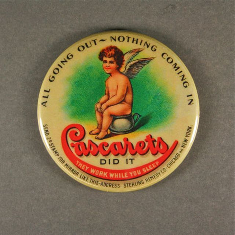 Vintage Advertising Fridge Magnet Cascarets Candy Cathartic Laxative