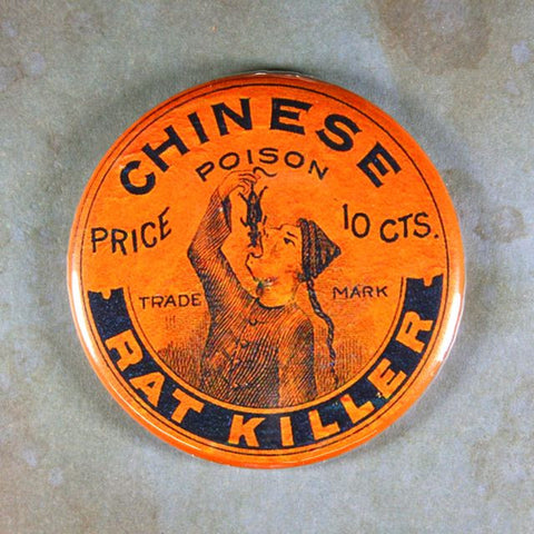 Vintage Poison Label Fridge Magnet Chinese Poison Rat Killer