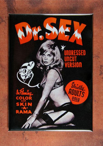 Vintage Movie Poster Fridge Magnet Dr. Sex Pin Up Girl