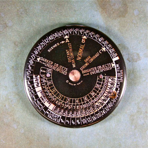 Vintage Exposure Meter No.2 Fridge Magnet Steampunk  Photograpy