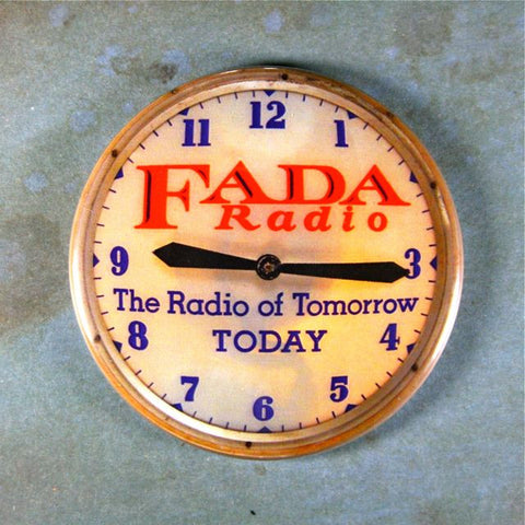 Vintage Advertising Clock Fridge Magnet Fada Bullet Radio