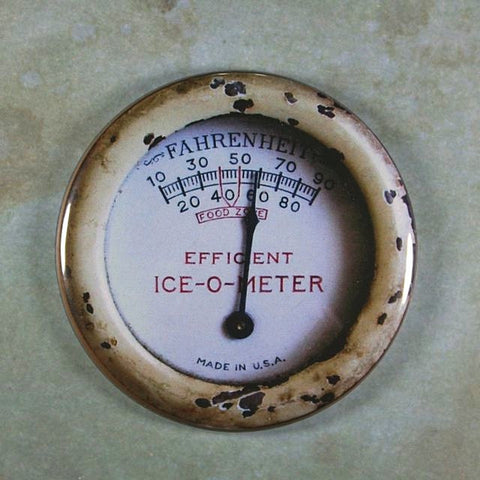 Vintage Cooler Temperature Gauge Fahrenheit