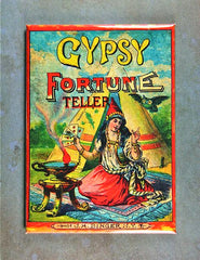 Fridge magnet Gypsy Fortune Teller tarot cards