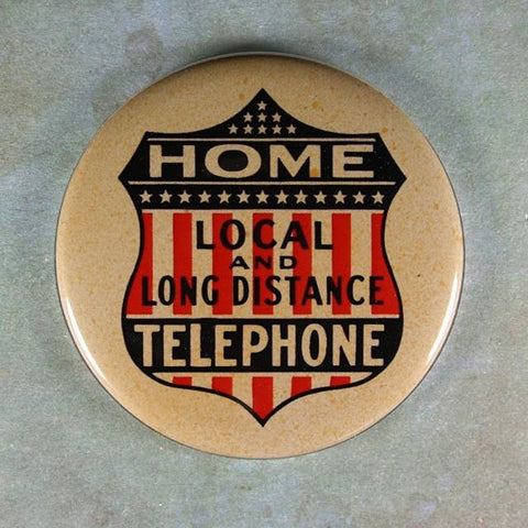 Vintage  Advertising Sign Fridge Magnet  Home Telephone Long Distance
