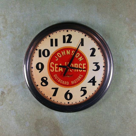 Vintage Advertising Clock Fridge Magnet Johnson Sea Horse Outboard Motors