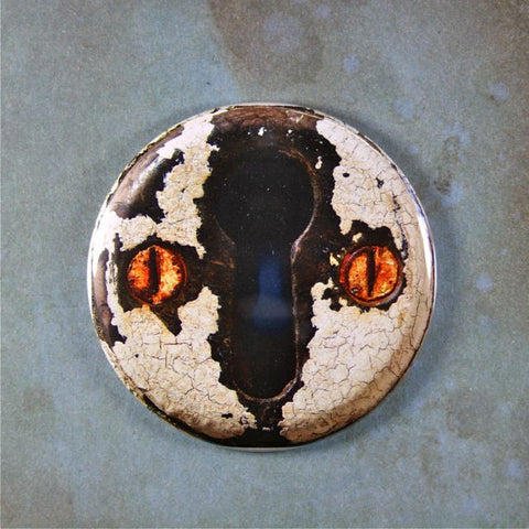 Antique Rusted Keyhole Fridge Magnet Vintage Industrial