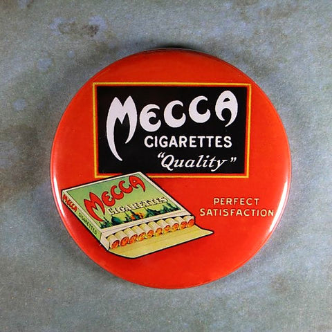 Vintage Advertisement Fridge Magnet Mecca Cigarettes