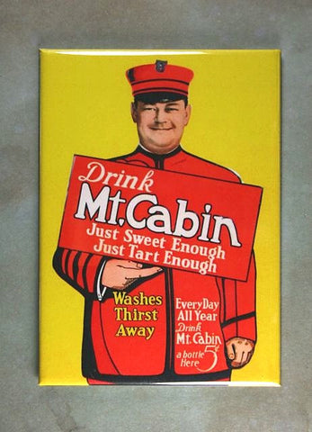 Vintage Advertising Fridge Magnet Mt. Cabin Soft Drink
