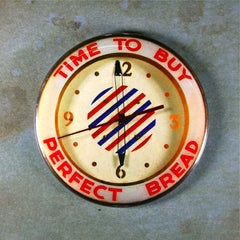 Vintage Advertising Clock Fridge Magnet Perfect Bread