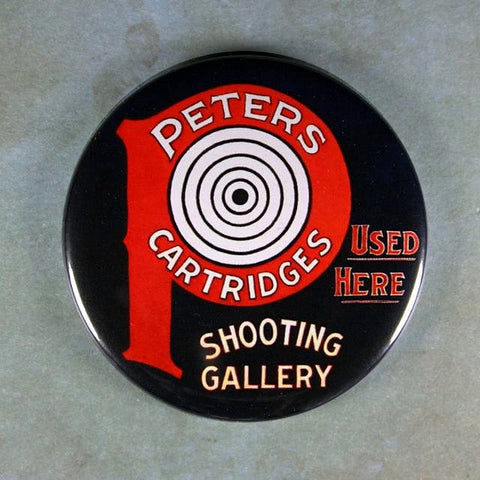 Vintage Tin Sign Fridge Magnet Peter's Shooting Gallery Target