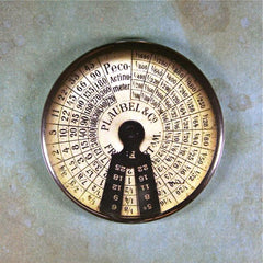 Vintage Exposure Meter Fridge Magnet  Peco Actinometer Steampunk
