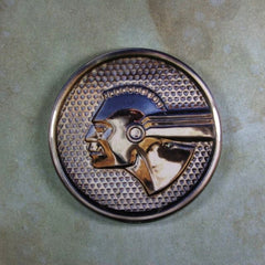 Vintage Car Emblem Fridge Magnet  Pontiac Chief Chrome