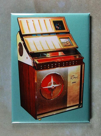 Vintage Jukebox Advertisement Fridge Magnet Rowe 1970's