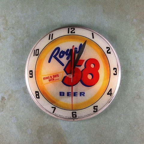 Vintage Advertising Clock Fridge Magnet Royal 58 Beer Duluth Brewing