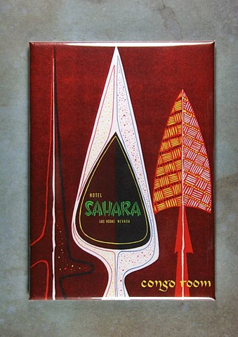 Vintage Casino Lounge Ad Fridge Magnet Sahara Congo Room