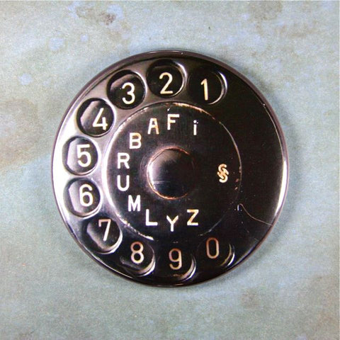 Vintage Siemens Telephone No.3 Dial Fridge Magnet Bakelite German