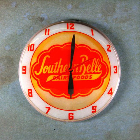 Vintage Advertising Clock Fridge Magnet Southern Belle Dairy Products Foods